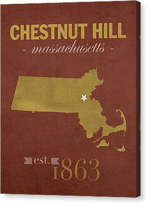 Boston College Eagles Chestnut Hill Massachusetts College Town State Map Poster Series No 020 Canvas Print by Design Turnpike