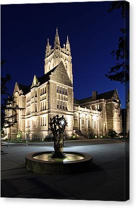 Boston College Gasson Hall Canvas Print by Juergen Roth