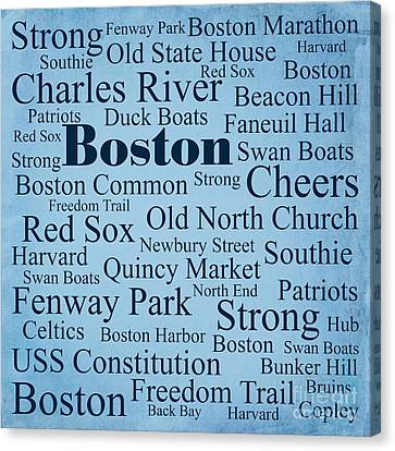 Boston Canvas Print by Denyse and Laura Design Studio