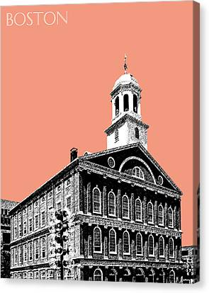 Boston Faneuil Hall - Salmon Canvas Print by DB Artist
