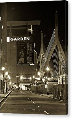 Boston Garder And Side Street Canvas Print by John McGraw