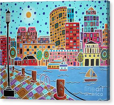 Boston Harbor Canvas Print by Karla Gerard