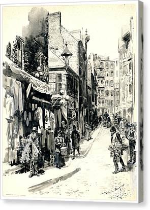 Boston Jewish Quarter 1899 Canvas Print by Padre Art