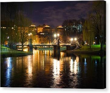 Boston Lagoon Bridge Canvas Print by Joann Vitali