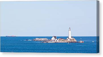 Boston Lighthouse Canvas Print by Georgia Fowler