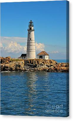 Boston Light Canvas Print by Catherine Reusch  Daley