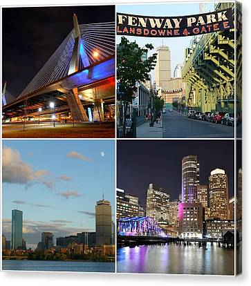 Boston Ma Collage Canvas Print by Toby McGuire