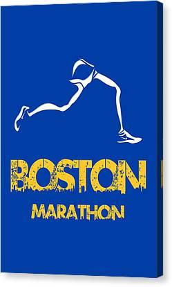 Boston Marathon2 Canvas Print by Joe Hamilton