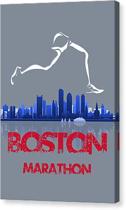 Boston Marathon3 Canvas Print by Joe Hamilton