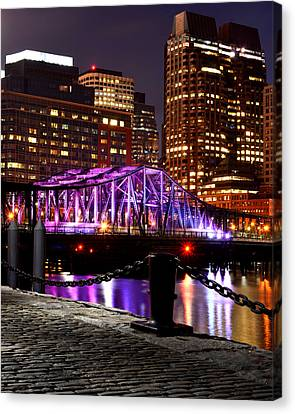Boston Old Northern Avenue Bridge Illuminated Canvas Print by Toby McGuire
