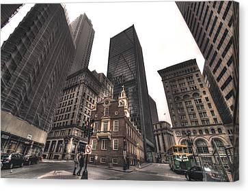 Boston Old State House Canvas Print by Joann Vitali