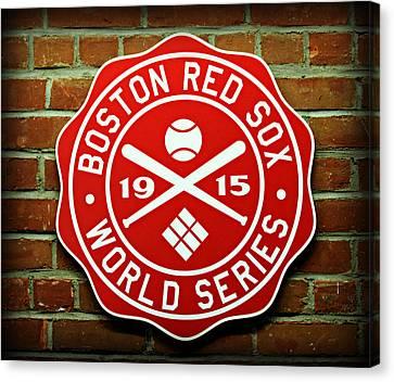 Boston Red Sox 1915 World Champions Canvas Print by Stephen Stookey