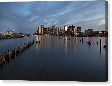 Boston Skyline At Dusk Canvas Print by Eric Gendron