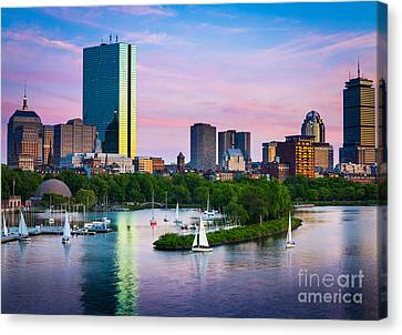 Boston Skyline Canvas Print by Inge Johnsson