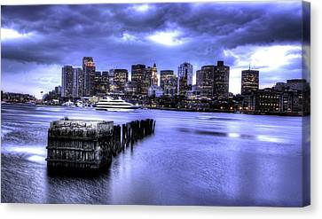 Boston Skyline Canvas Print by Khalid Siddiqui