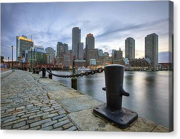 Boston Skyline Sunset Canvas Print by Eric Gendron