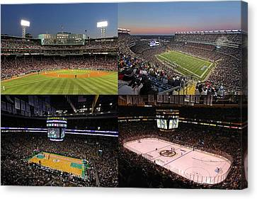 Boston Sport Teams And Fans Canvas Print by Juergen Roth