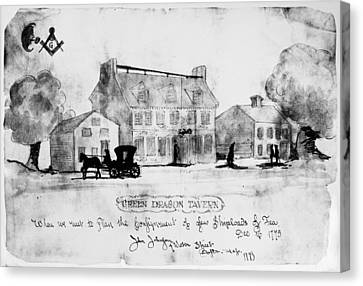 Boston: Tavern, 1773 Canvas Print by Granger