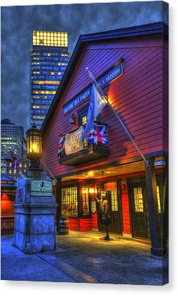 Boston Tea Party Museum At Night Canvas Print by Joann Vitali