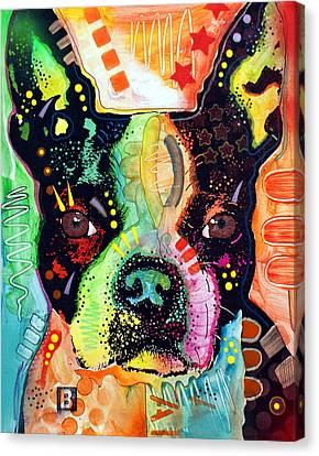 Boston Terrier IIi Canvas Print by Dean Russo