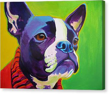Boston Terrier - Ridley Canvas Print by Alicia VanNoy Call