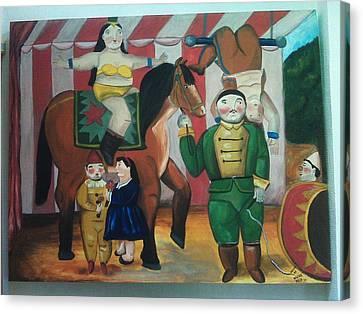 Botero Circus Canvas Print by Vickie Meza