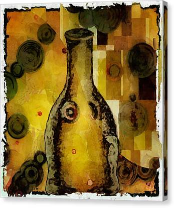 Bottle A La Klimt Canvas Print by Gun Legler