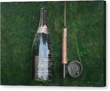 Bottle And Rob II, 2012 Acrylic On Canvas Canvas Print by Lincoln Seligman
