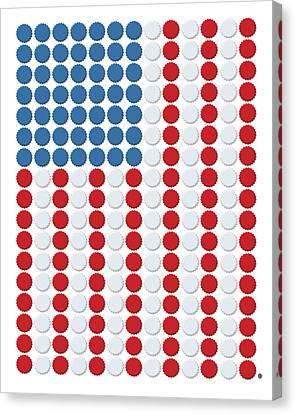 Bottle Cap Flag Canvas Print by Gary Grayson
