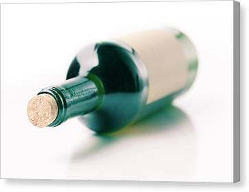 Bottle Of Wine Canvas Print by Wladimir Bulgar