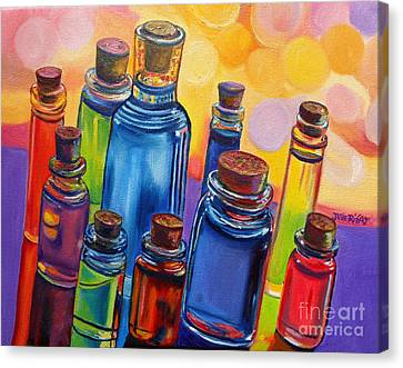 Bottled Rainbow Canvas Print by Julie Brugh Riffey