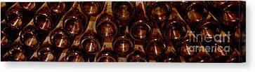 Bottles In The Cellar Canvas Print by Jon Neidert