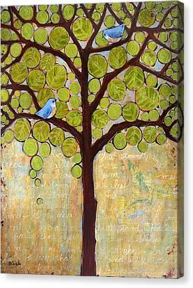 Boughs In Leaf Tree Canvas Print by Blenda Studio