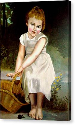 Bouguereau's Little Girl  Canvas Print by Zelma Hensel