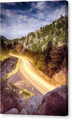 Boulder Canyon Beams Of Light Canvas Print by James BO  Insogna