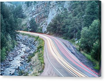 Boulder Canyon Drive And Commute Canvas Print by James BO  Insogna