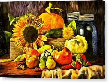 Bountiful Harvest Van Gogh Style Canvas Print by Edward Fielding
