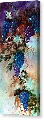 Bountiful Vines Canvas Print by Zelma Hensel