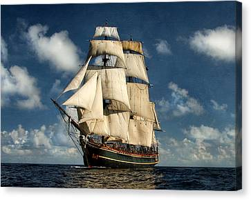 Bounty Making Way Canvas Print by Peter Chilelli