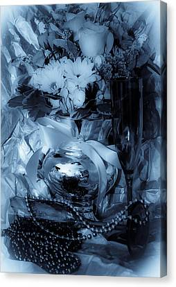 Bouquet And Beads Canvas Print by DigiArt Diaries by Vicky B Fuller