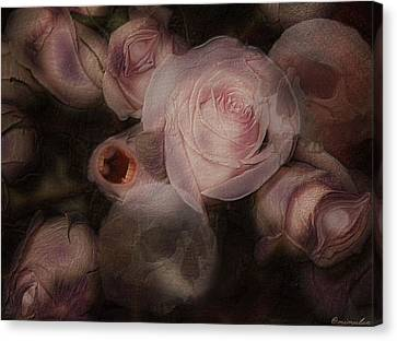 Bouquet Macabre Canvas Print by Mimulux patricia no