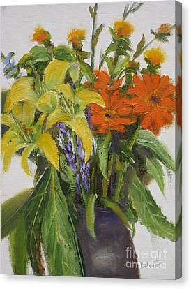 Bouquet Canvas Print by Mohamed Hirji