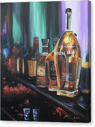 Bourbon Bar Canvas Print by Donna Tuten