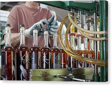 Bourbon Bottling Production Line Canvas Print by Jim West