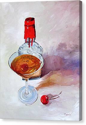 Bourbon Manhattan Canvas Print by Torrie Smiley