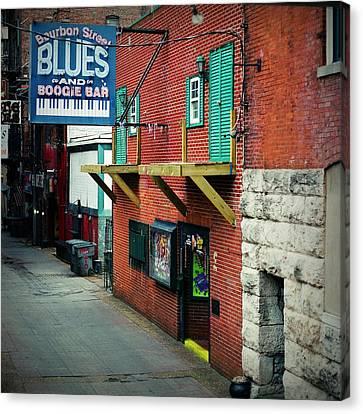 Bourbon Street Blues Canvas Print by Linda Unger