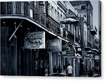 Bourbon Street New Orleans Canvas Print by Christine Till