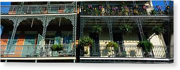 Bourbon Street New Orleans La Canvas Print by Panoramic Images