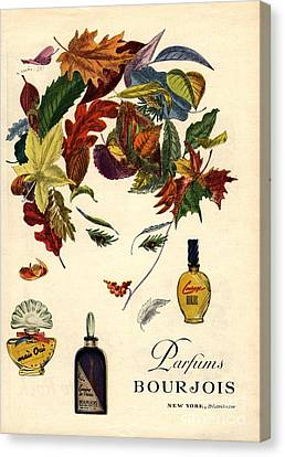 Bourjois 1940s Usa Womens Canvas Print by The Advertising Archives