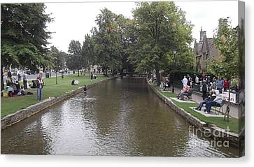 Bourton On The Water Canvas Print by John Williams